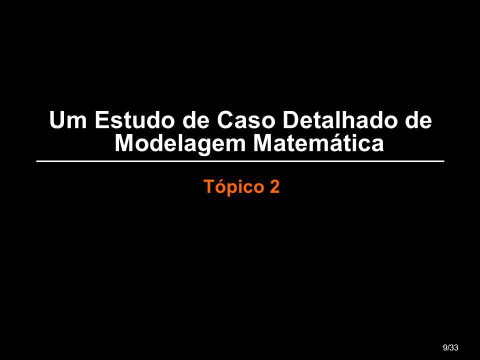 Um Estudo de Caso Detalhado de Modelagem Matemática