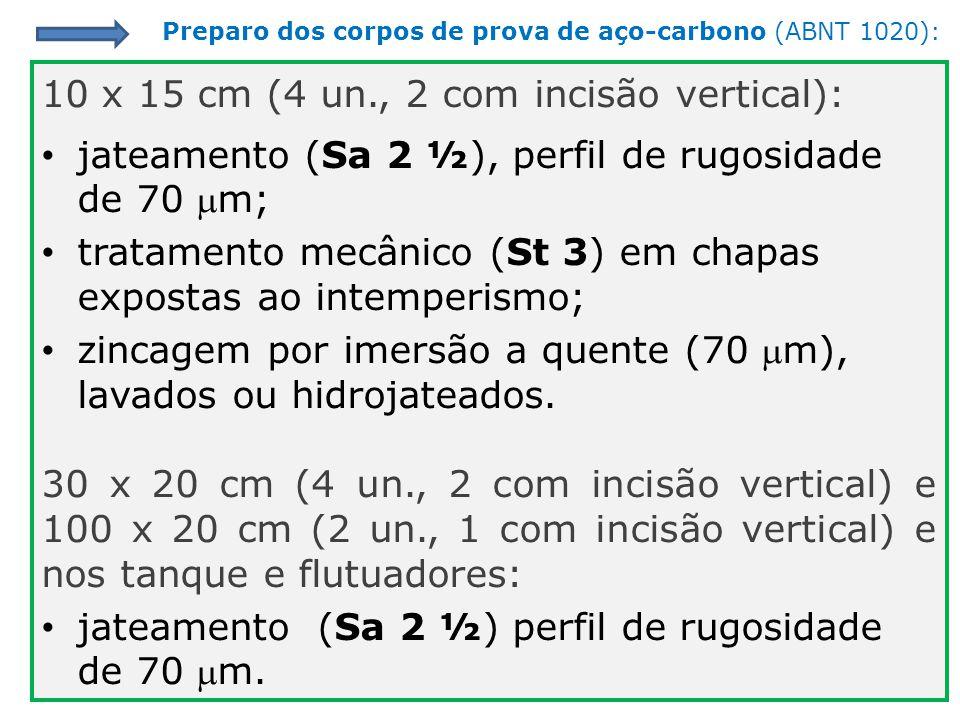 10 x 15 cm (4 un., 2 com incisão vertical):