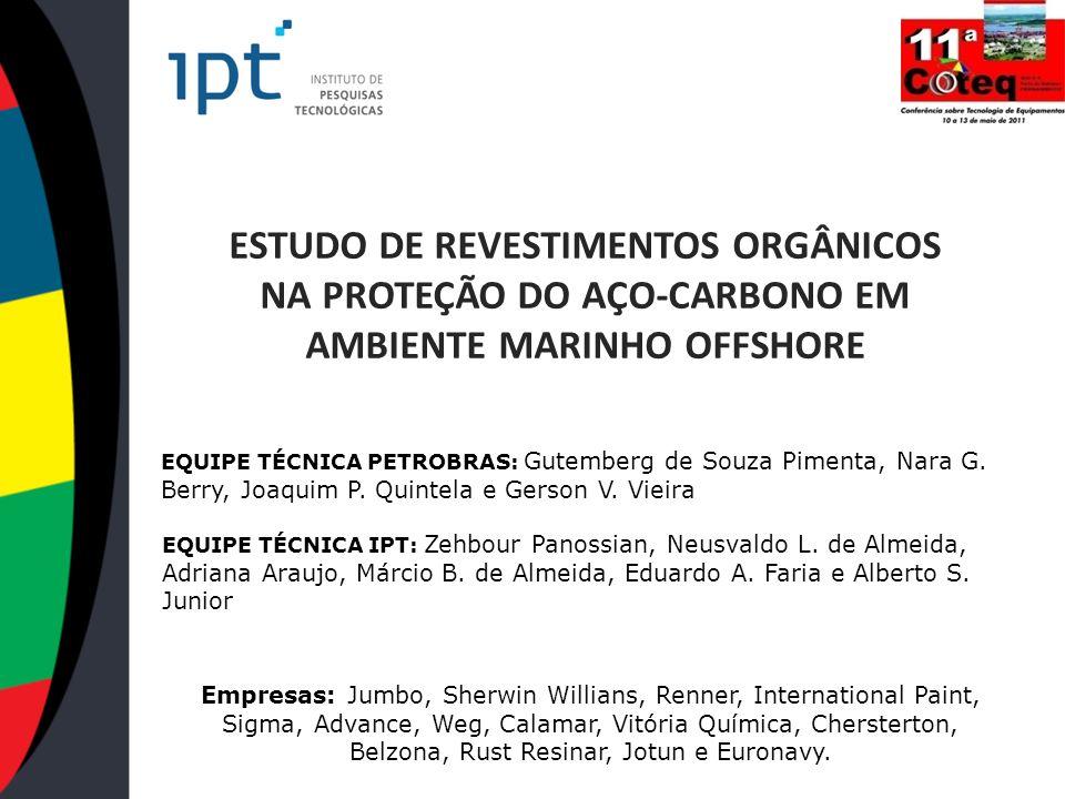 ESTUDO DE REVESTIMENTOS ORGÂNICOS NA PROTEÇÃO DO AÇO-CARBONO EM AMBIENTE MARINHO OFFSHORE