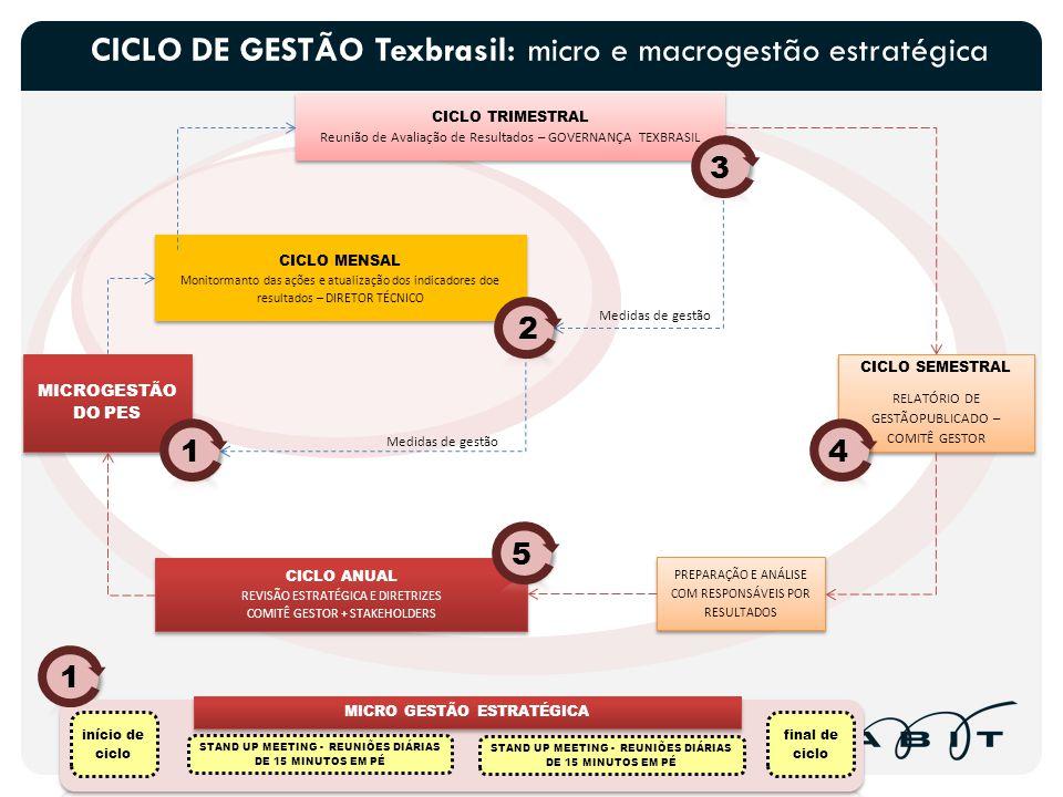 CICLO DE GESTÃO Texbrasil: micro e macrogestão estratégica