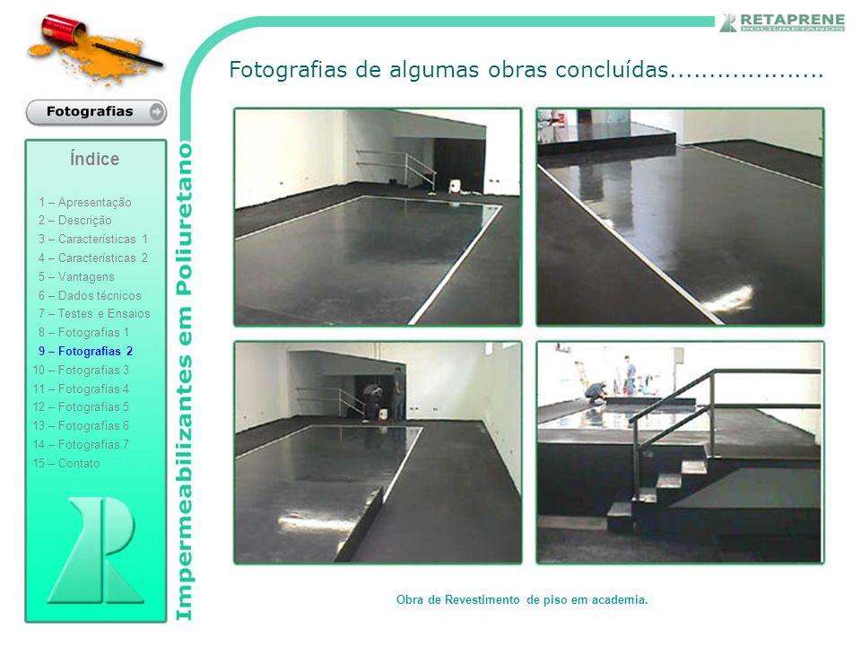 Obra de Revestimento de piso em academia.