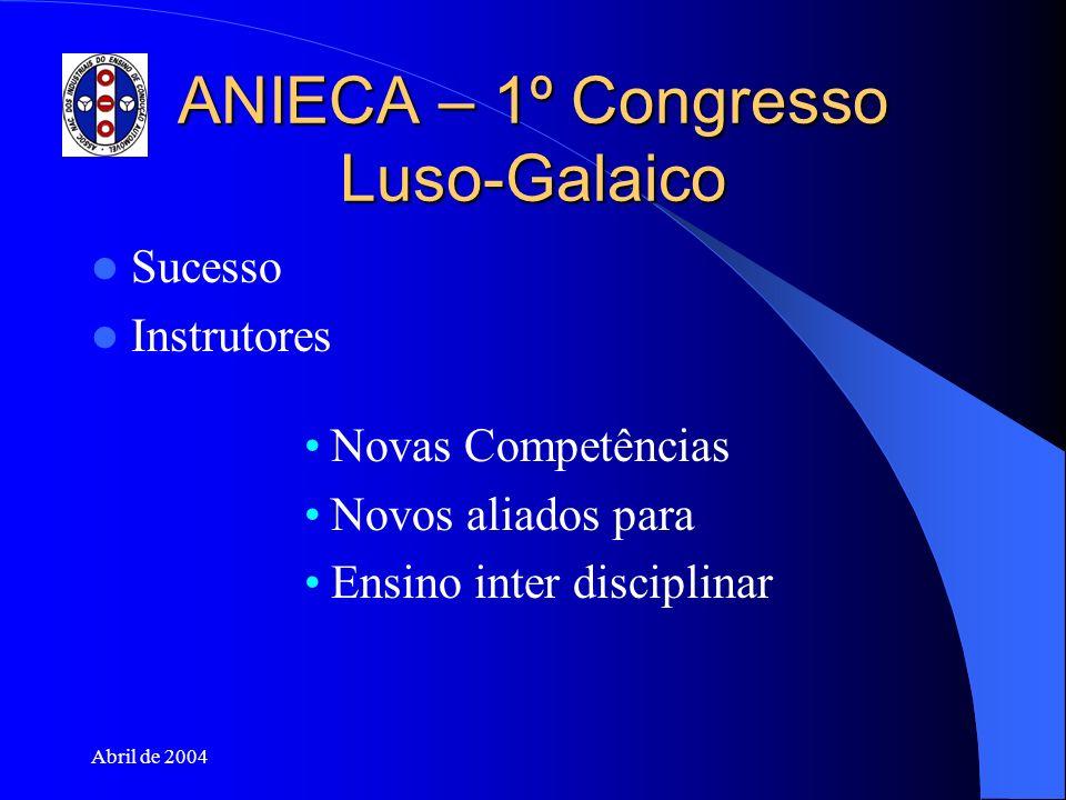 ANIECA – 1º Congresso Luso-Galaico