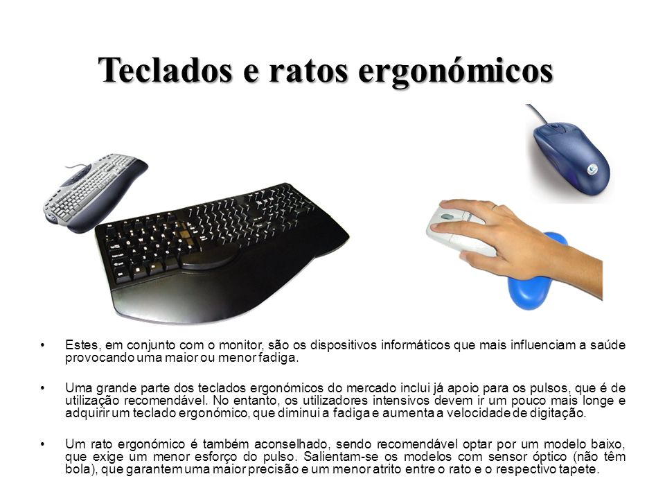 Teclados e ratos ergonómicos