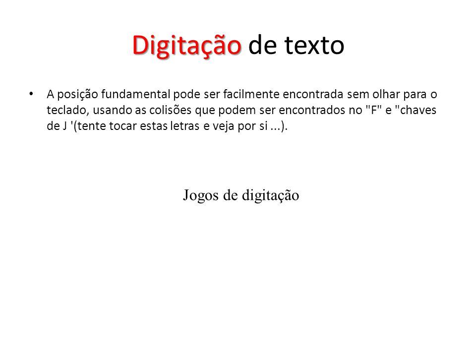 Digitação de texto Jogos de digitação