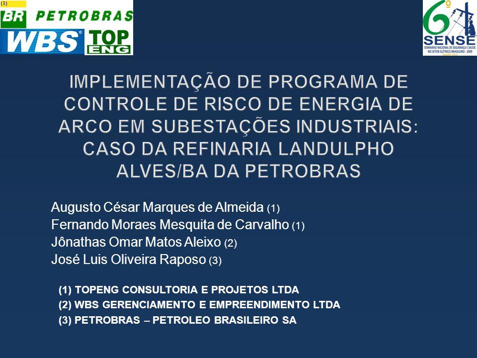 IMPLEMENTAÇÃO DE PROGRAMA DE CONTROLE DE RISCO DE ENERGIA DE ARCO EM SUBESTAÇÕES INDUSTRIAIS: CASO DA REFINARIA LANDULPHO ALVES/BA DA PETROBRAS