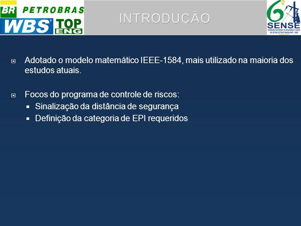 INTRODUÇÃO Adotado o modelo matemático IEEE-1584, mais utilizado na maioria dos estudos atuais. Focos do programa de controle de riscos: