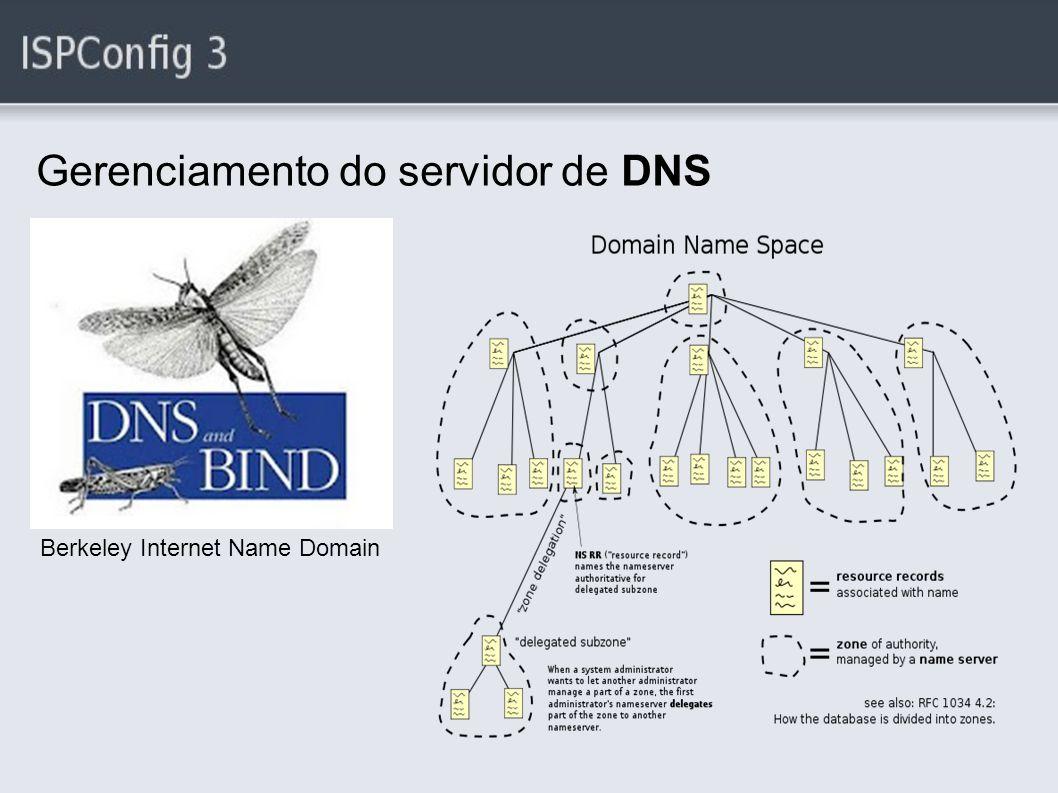 Gerenciamento do servidor de DNS