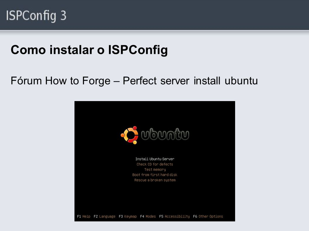 Como instalar o ISPConfig