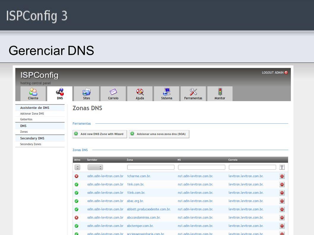 Gerenciar DNS