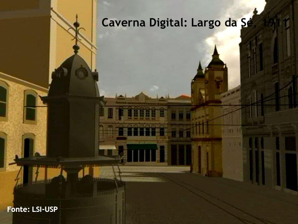 Caverna Digital: Largo da Sé, 1911