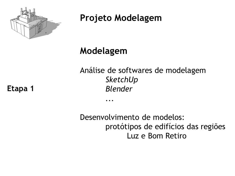 Projeto Modelagem Modelagem Análise de softwares de modelagem Blender