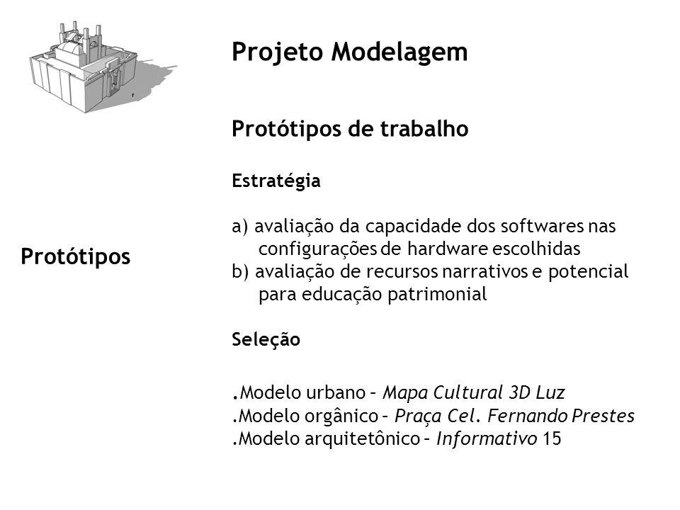 Projeto Modelagem Protótipos de trabalho