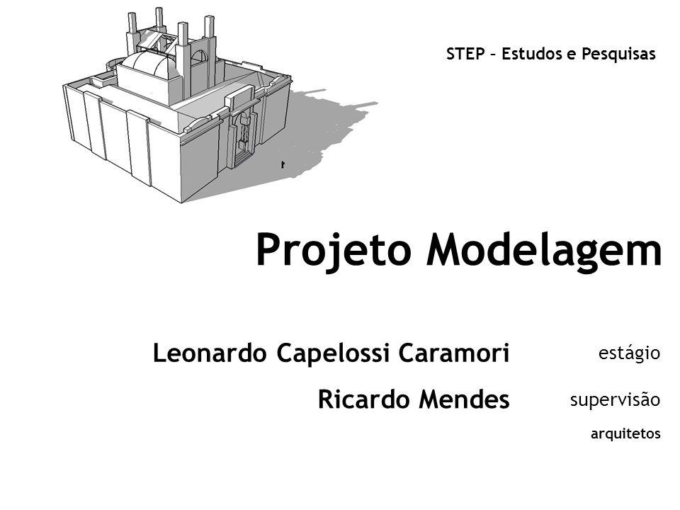 Projeto Modelagem Leonardo Capelossi Caramori Ricardo Mendes estágio
