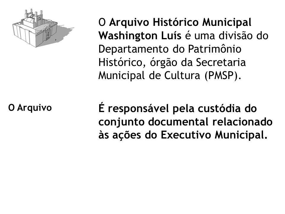 O Arquivo Histórico Municipal Washington Luís é uma divisão do Departamento do Patrimônio Histórico, órgão da Secretaria Municipal de Cultura (PMSP).