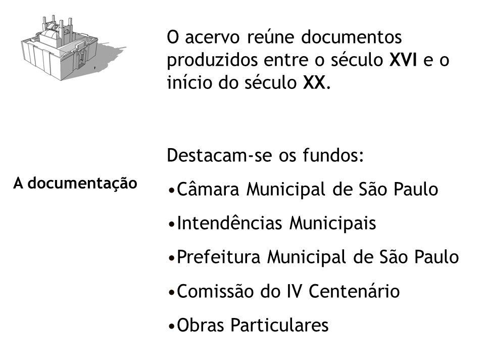 Destacam-se os fundos: Câmara Municipal de São Paulo
