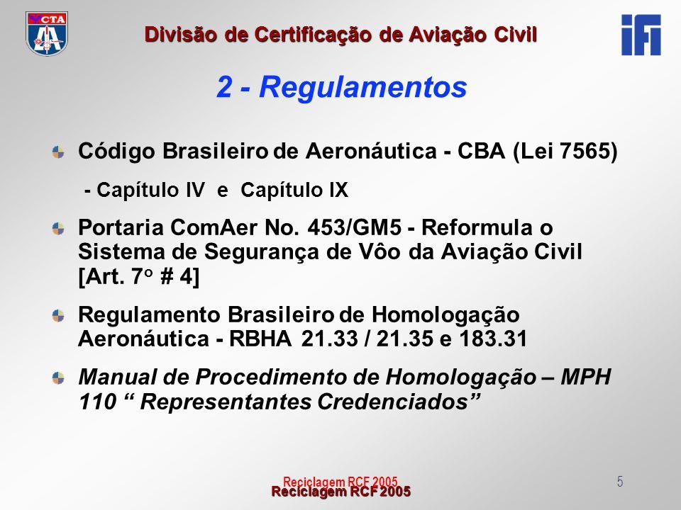 2 - Regulamentos Código Brasileiro de Aeronáutica - CBA (Lei 7565)