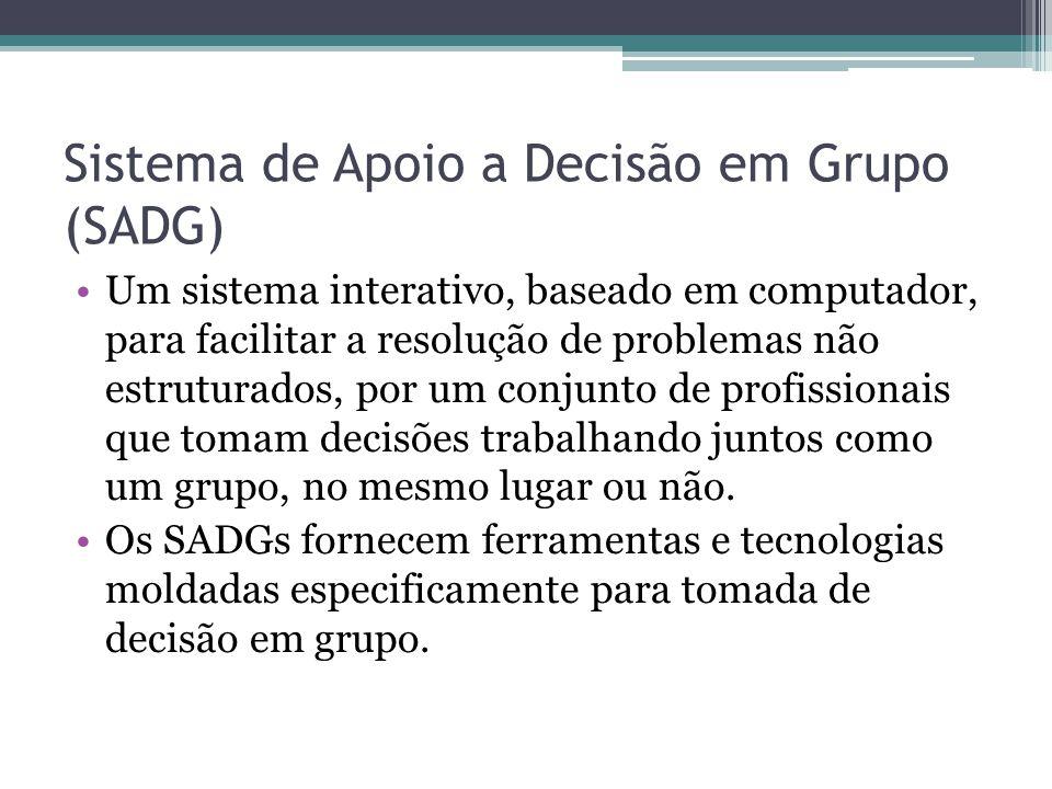 Sistema de Apoio a Decisão em Grupo (SADG)