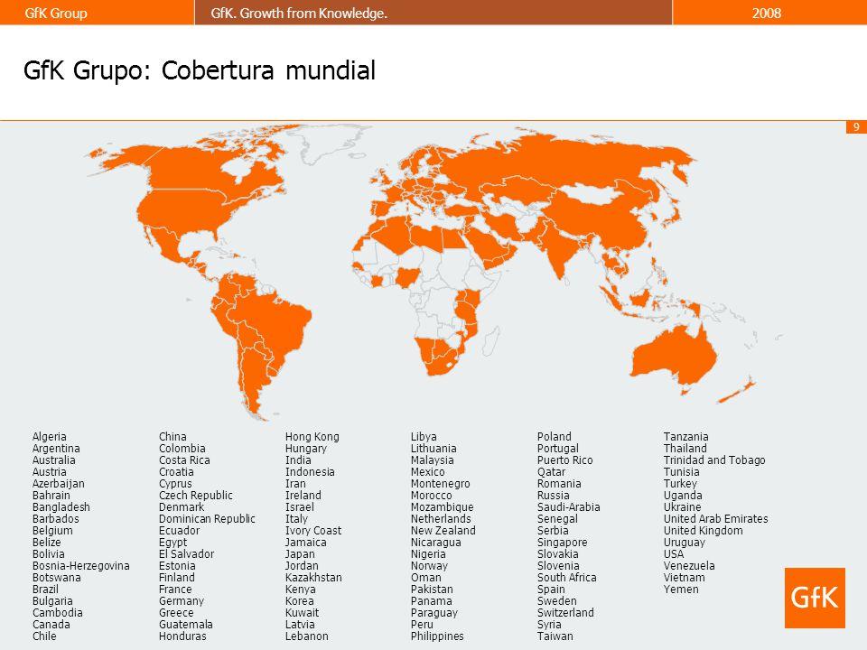 GfK Grupo: Cobertura mundial