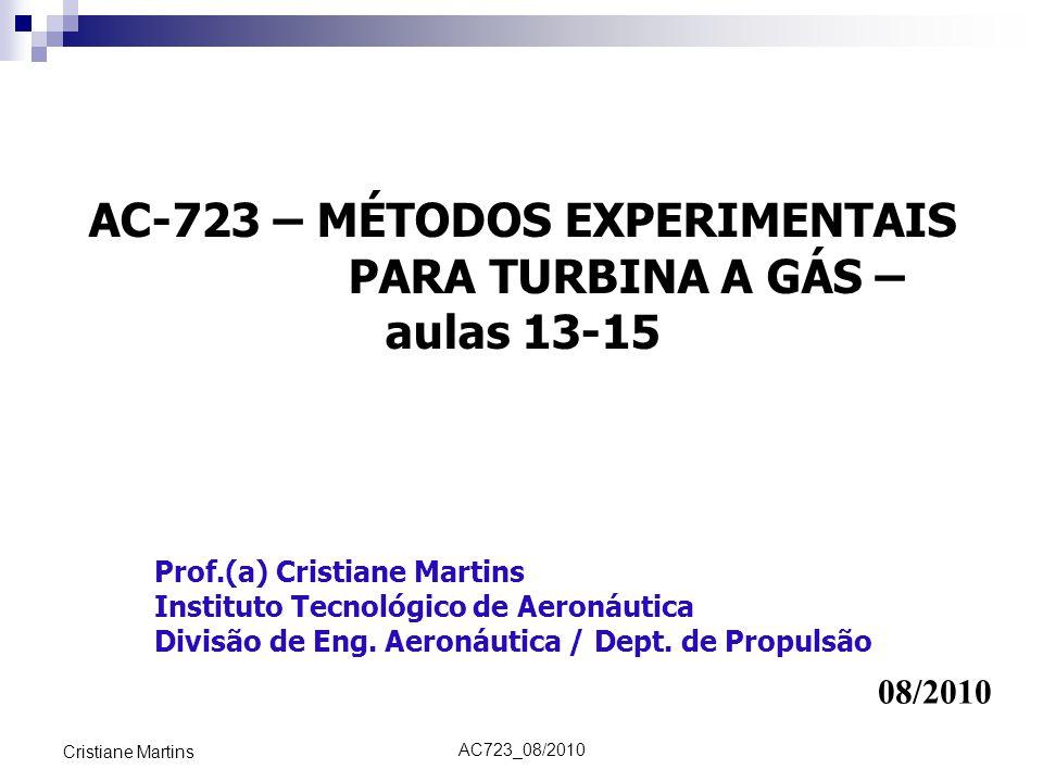 AC-723 – MÉTODOS EXPERIMENTAIS PARA TURBINA A GÁS –