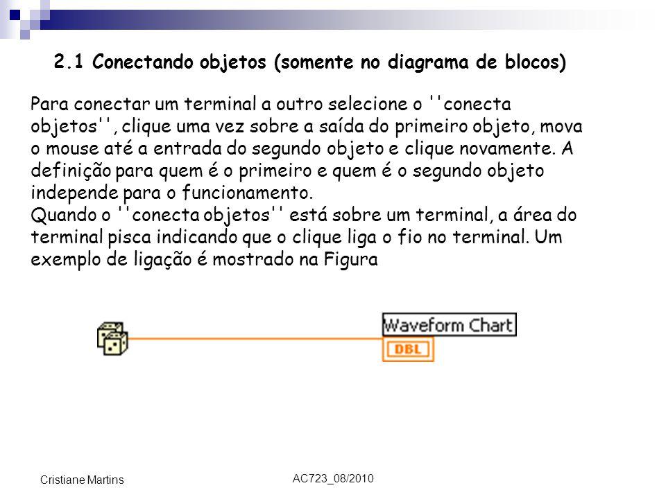 2.1 Conectando objetos (somente no diagrama de blocos)