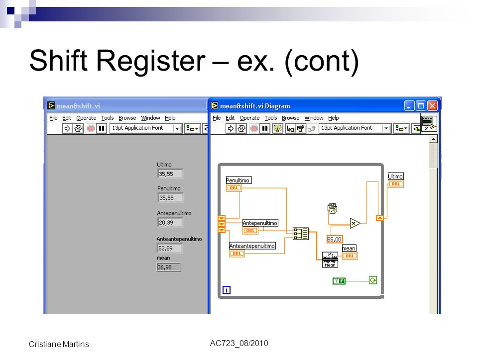 Shift Register – ex. (cont)