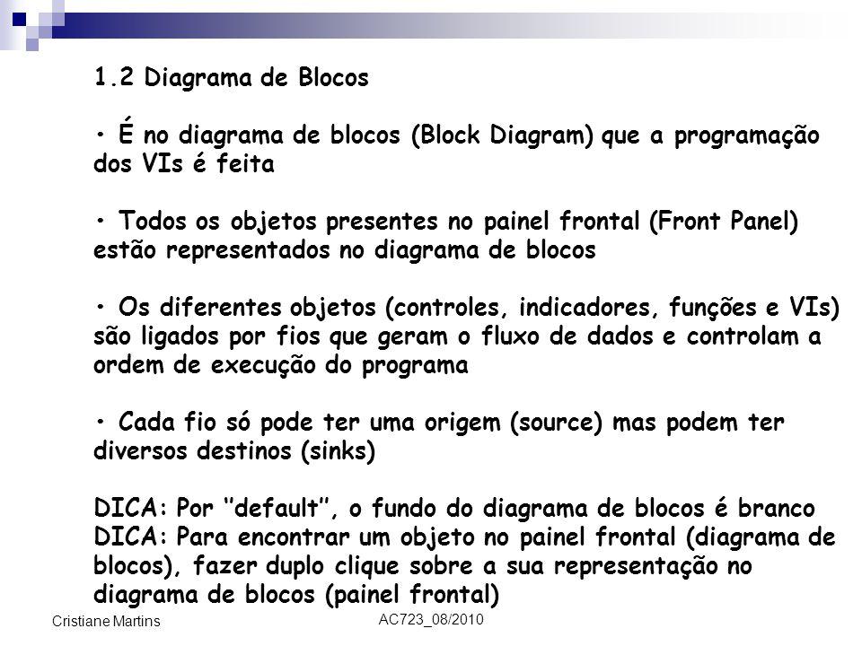 DICA: Por ''default'', o fundo do diagrama de blocos é branco