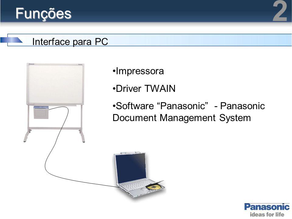 2 Funções Interface para PC Impressora Driver TWAIN