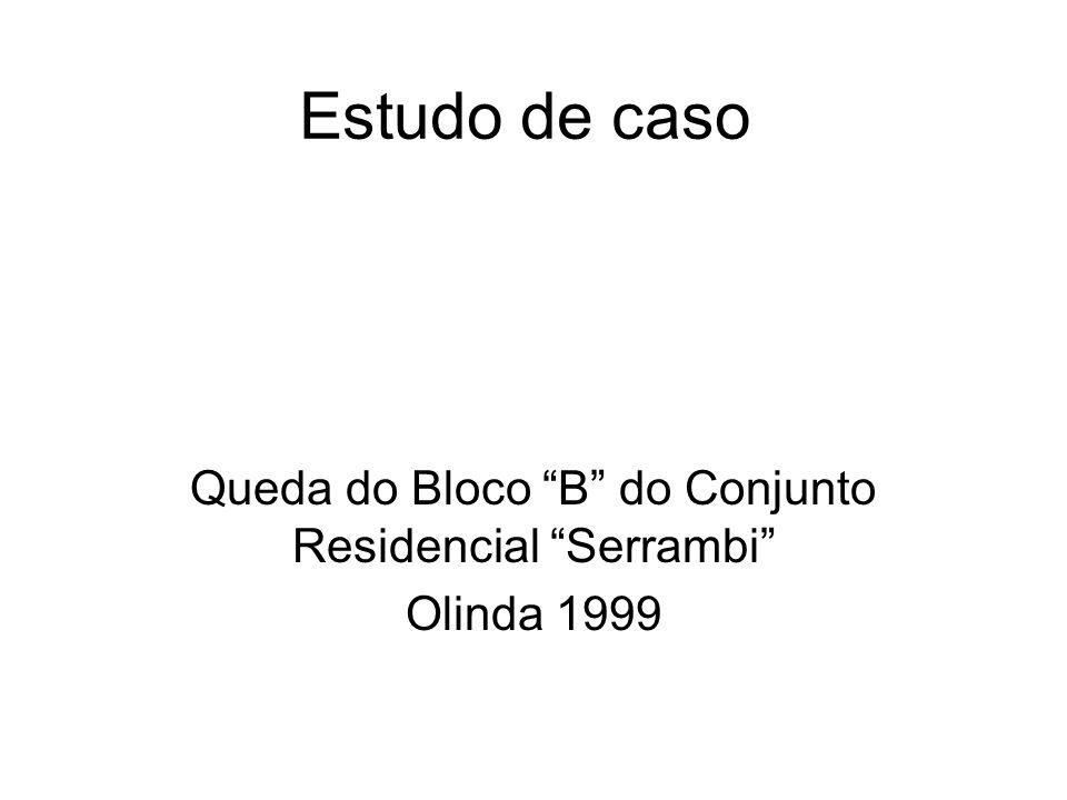 Queda do Bloco B do Conjunto Residencial Serrambi Olinda 1999