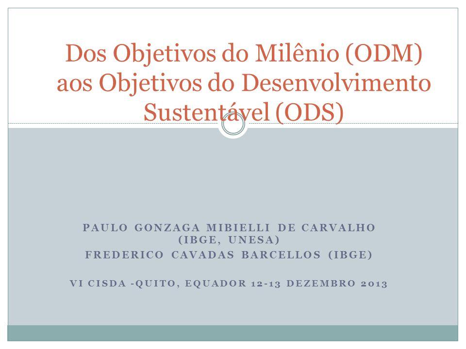 Dos Objetivos do Milênio (ODM) aos Objetivos do Desenvolvimento Sustentável (ODS)