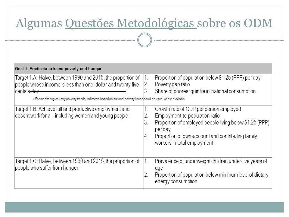 Algumas Questões Metodológicas sobre os ODM