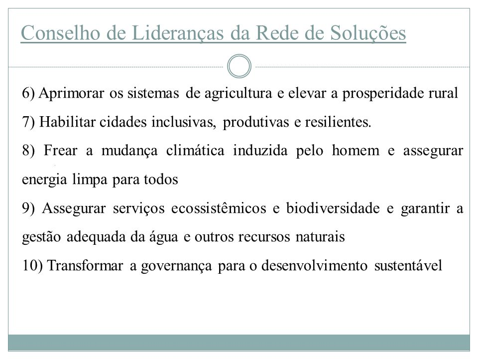 Conselho de Lideranças da Rede de Soluções