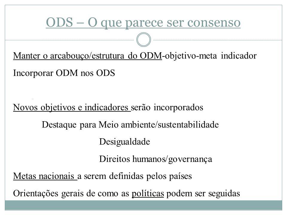 ODS – O que parece ser consenso