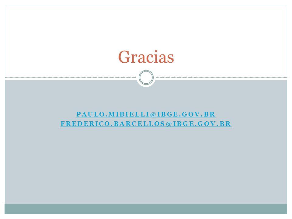 Paulo.mibielli@ibge.gov.br Frederico.barcellos@ibge.gov.br