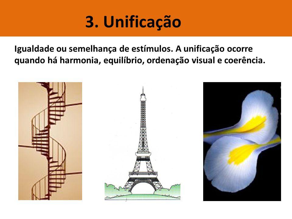 3. Unificação Igualdade ou semelhança de estímulos.
