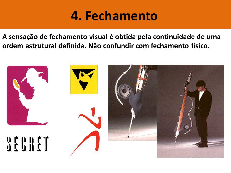 4. Fechamento A sensação de fechamento visual é obtida pela continuidade de uma.