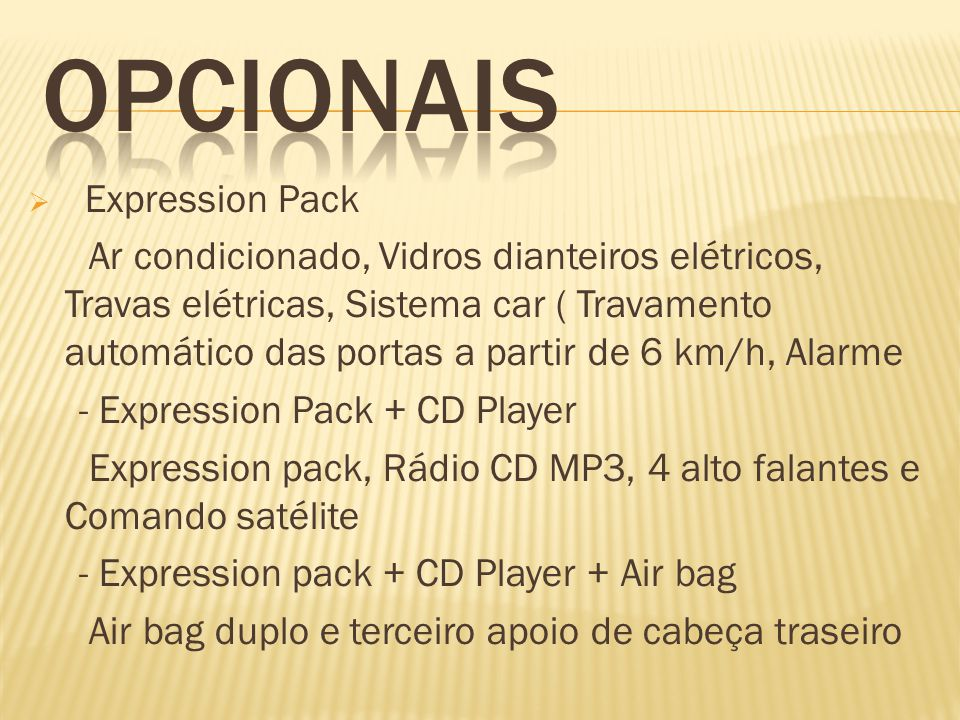 OPCIONAIS Expression Pack
