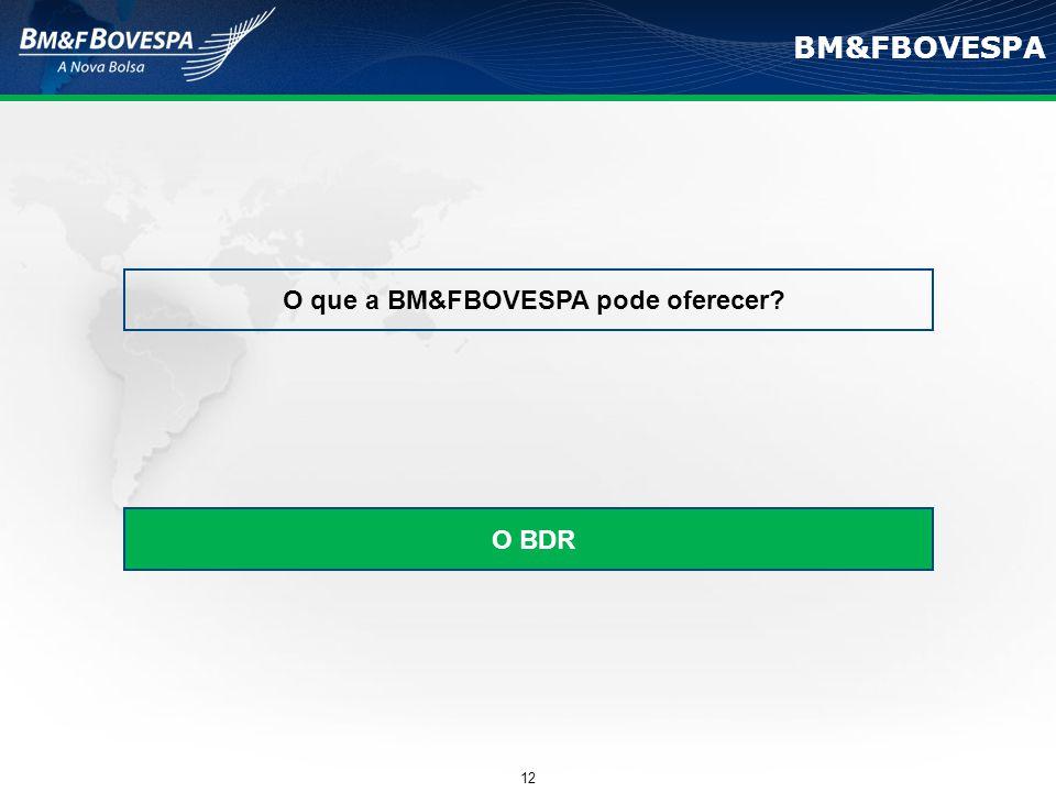 O que a BM&FBOVESPA pode oferecer
