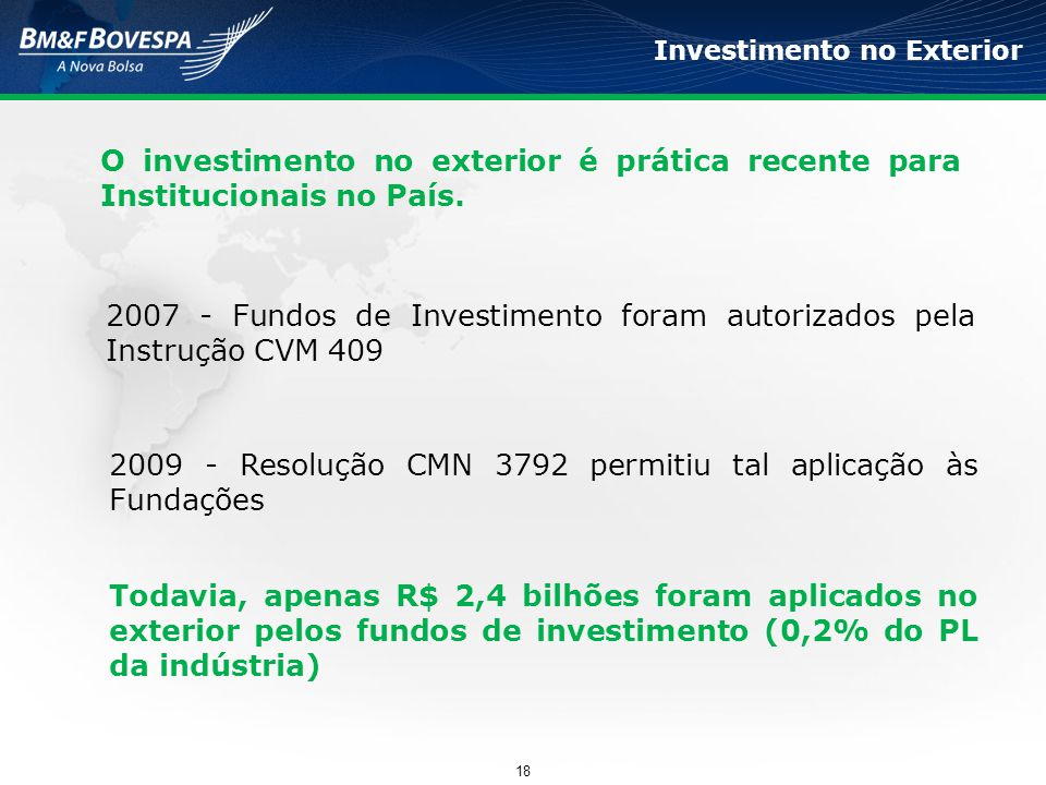 2007 - Fundos de Investimento foram autorizados pela Instrução CVM 409