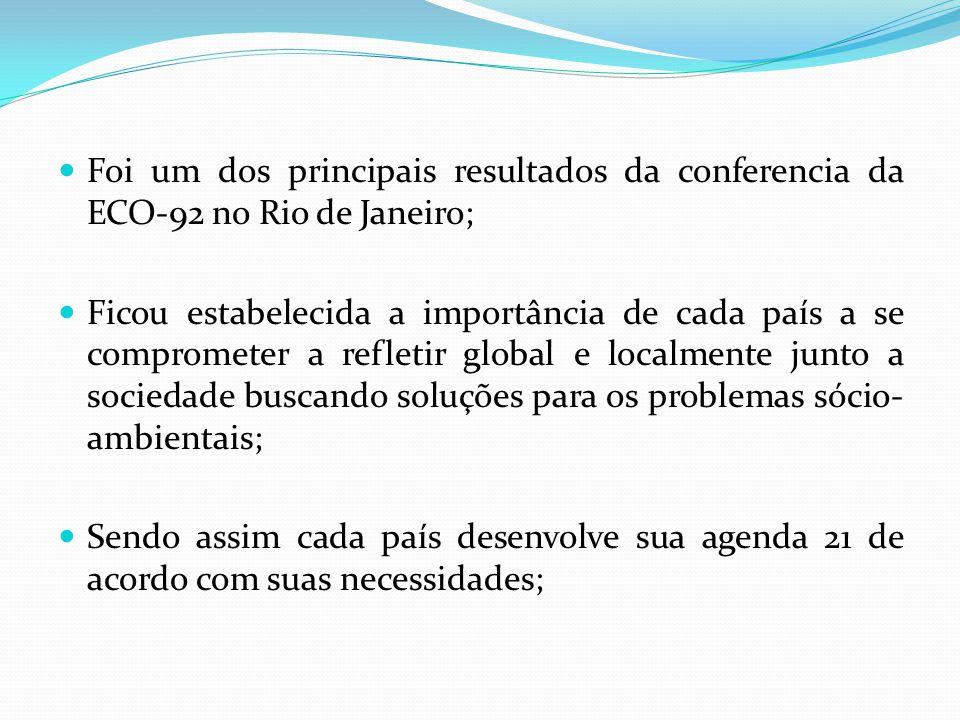 Foi um dos principais resultados da conferencia da ECO-92 no Rio de Janeiro;