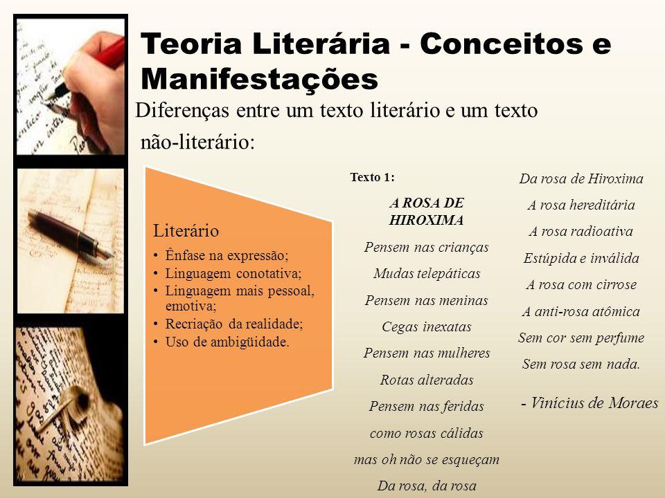 Teoria Literária - Conceitos e Manifestações