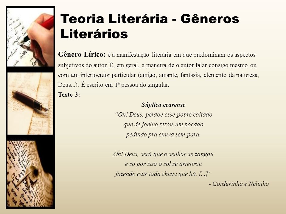 Teoria Literária - Gêneros Literários