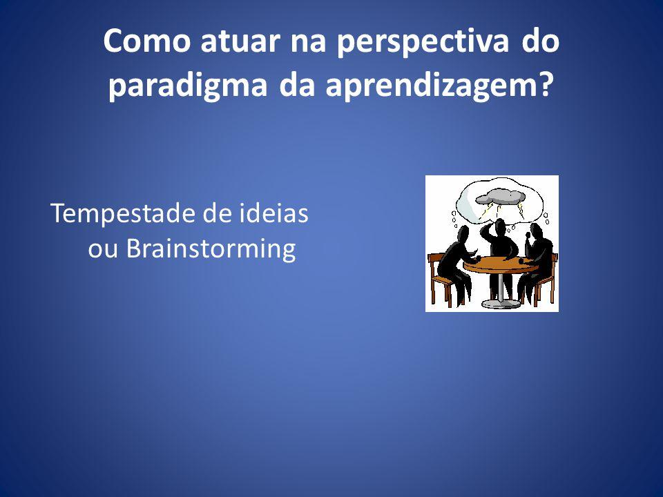 Como atuar na perspectiva do paradigma da aprendizagem