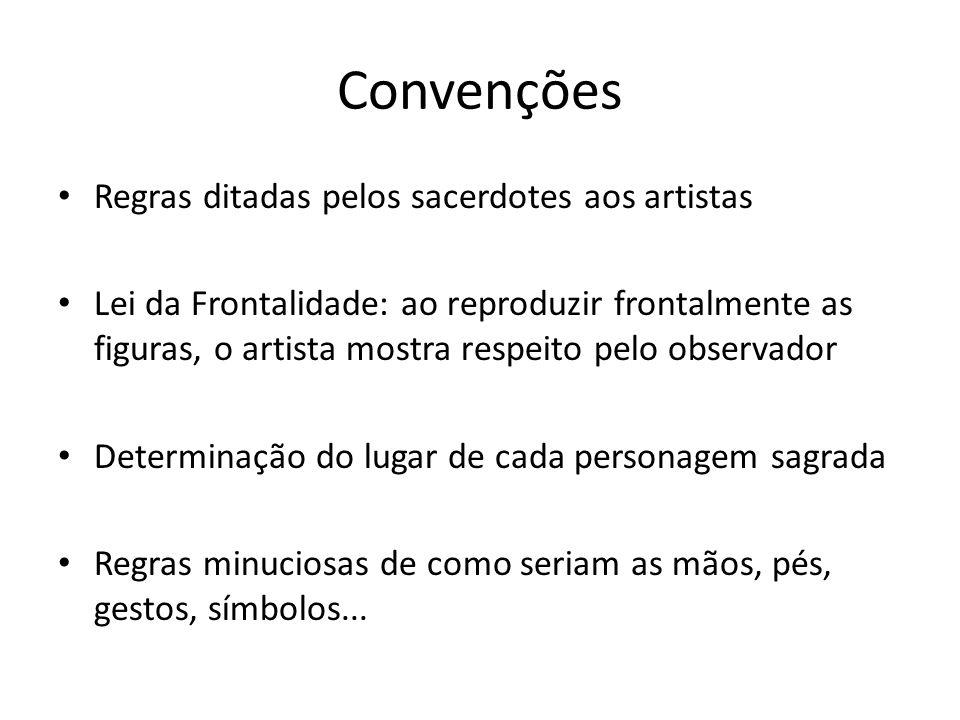 Convenções Regras ditadas pelos sacerdotes aos artistas