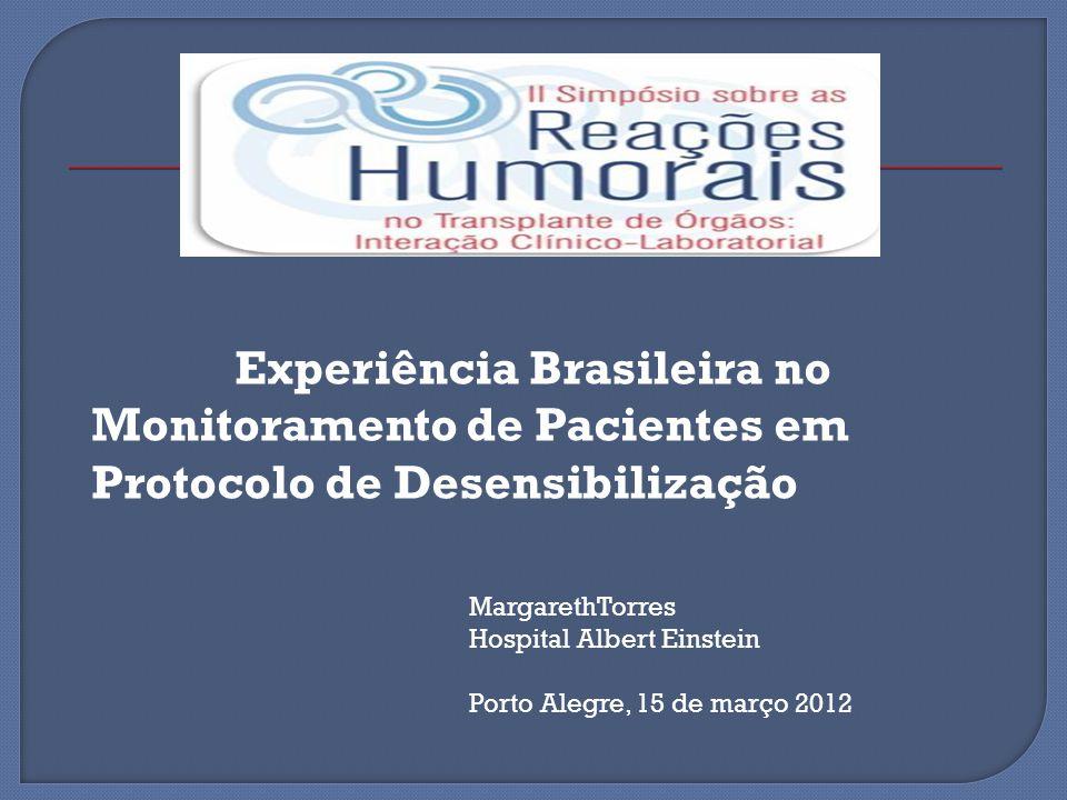 Experiência Brasileira no Monitoramento de Pacientes em Protocolo de Desensibilização