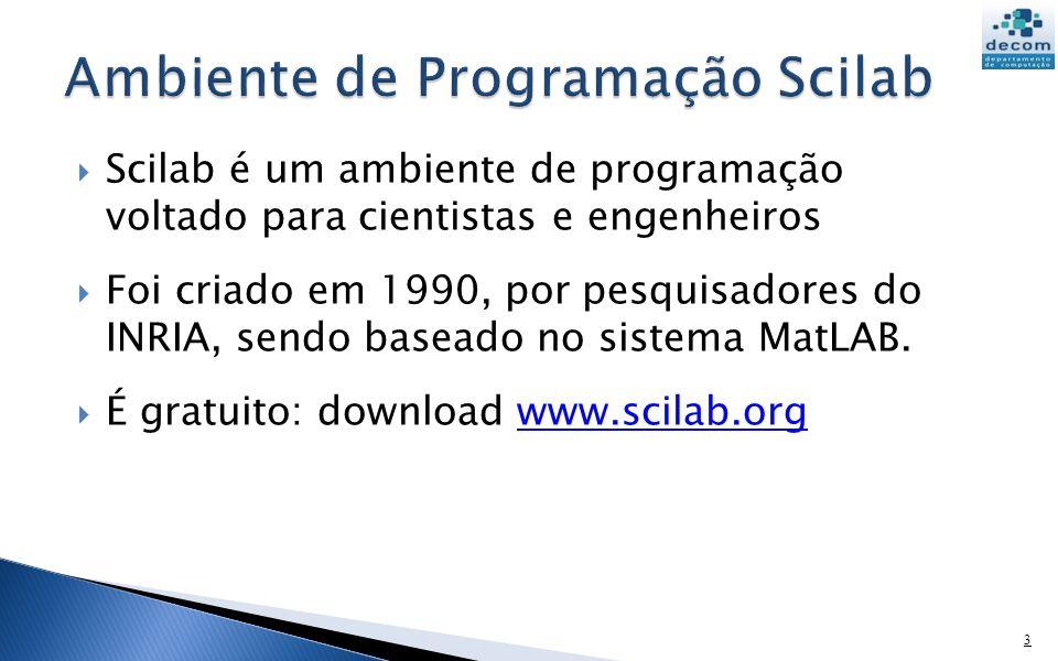 Ambiente de Programação Scilab