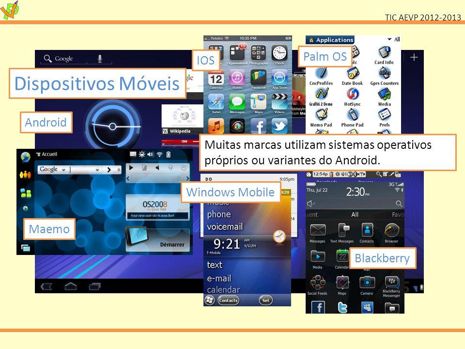 Dispositivos Móveis Palm OS IOS Android