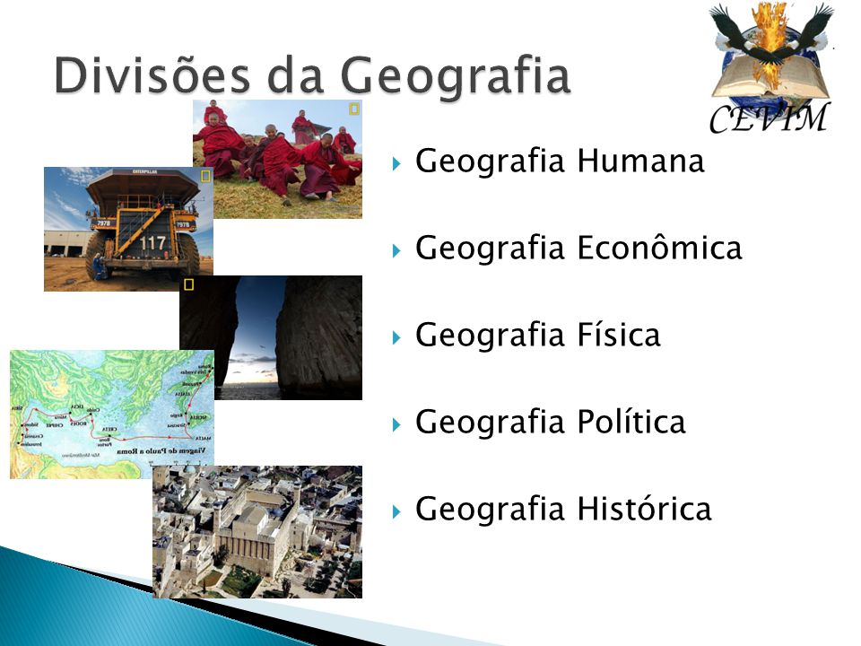 Divisões da Geografia Geografia Humana Geografia Econômica