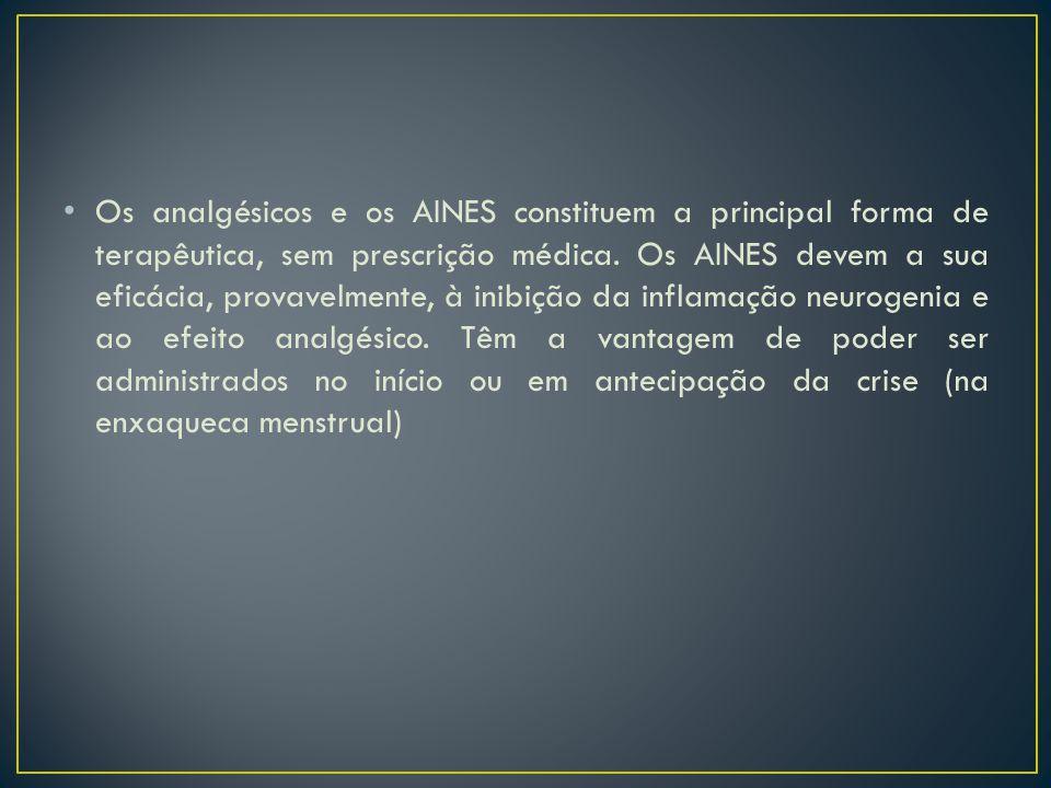Os analgésicos e os AINES constituem a principal forma de terapêutica, sem prescrição médica.