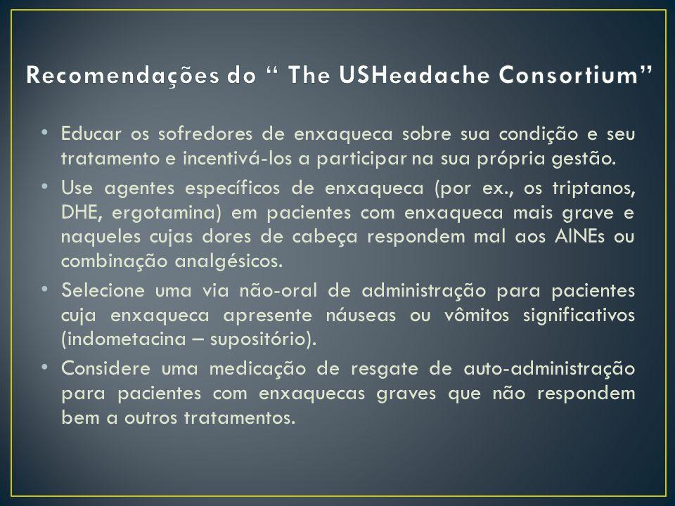 Recomendações do The USHeadache Consortium
