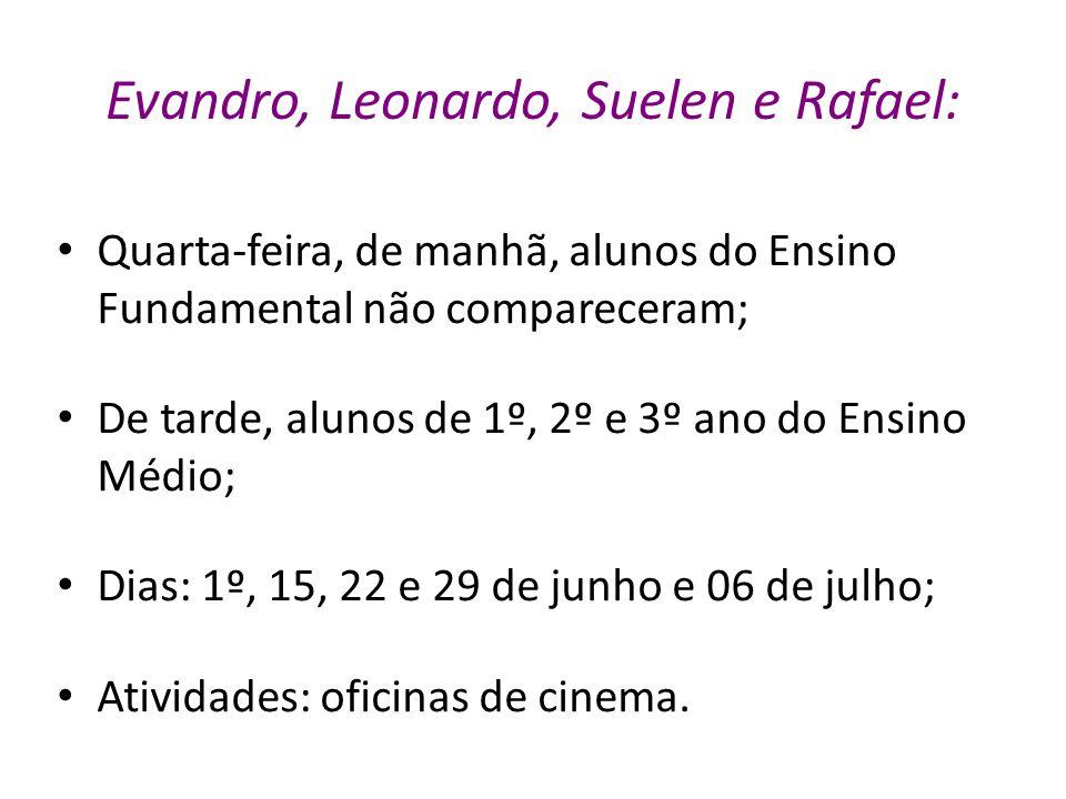Evandro, Leonardo, Suelen e Rafael: